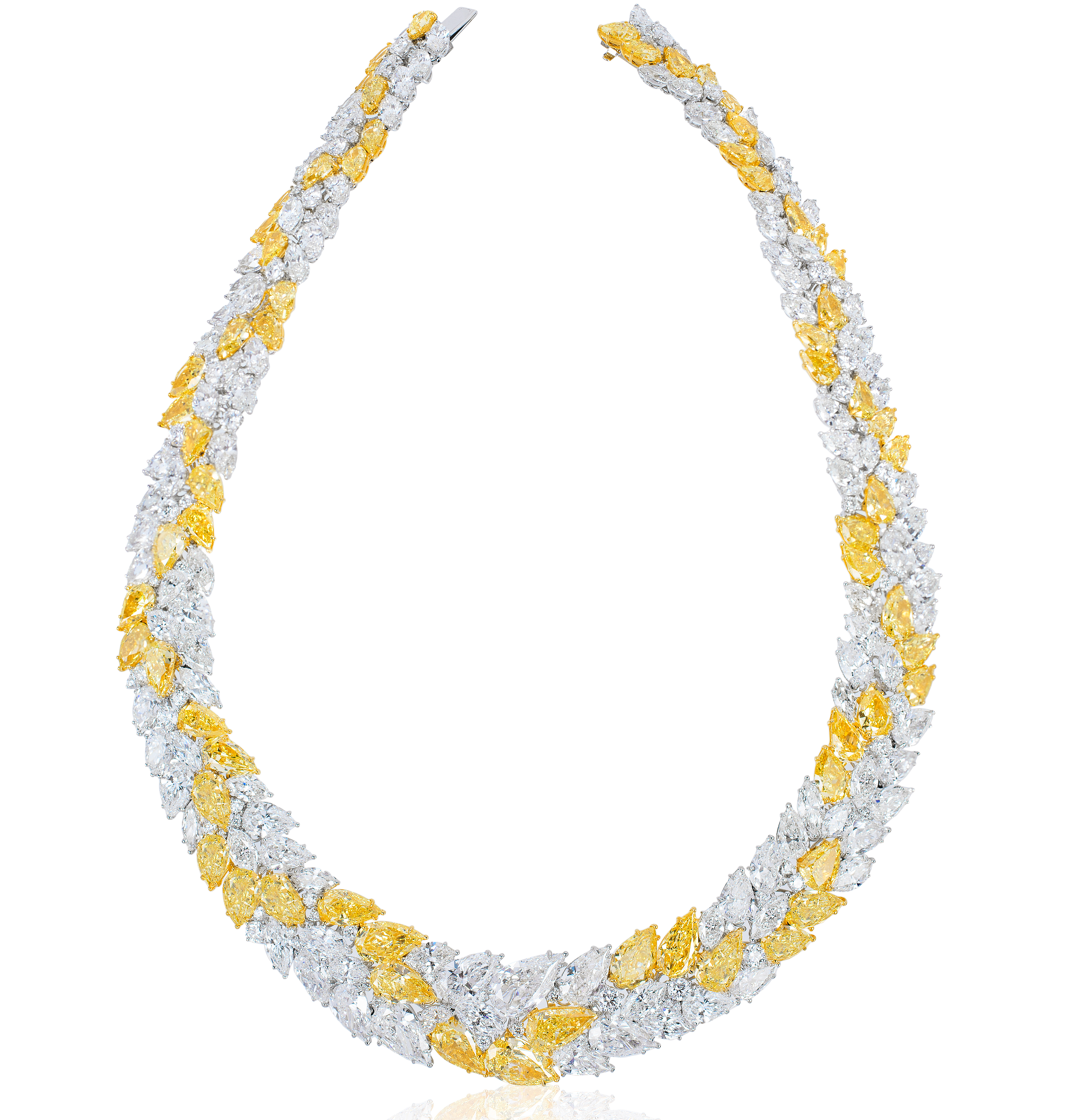David Mor yellow and white diamond necklace #BRITTSPICK | JCK On Your Market