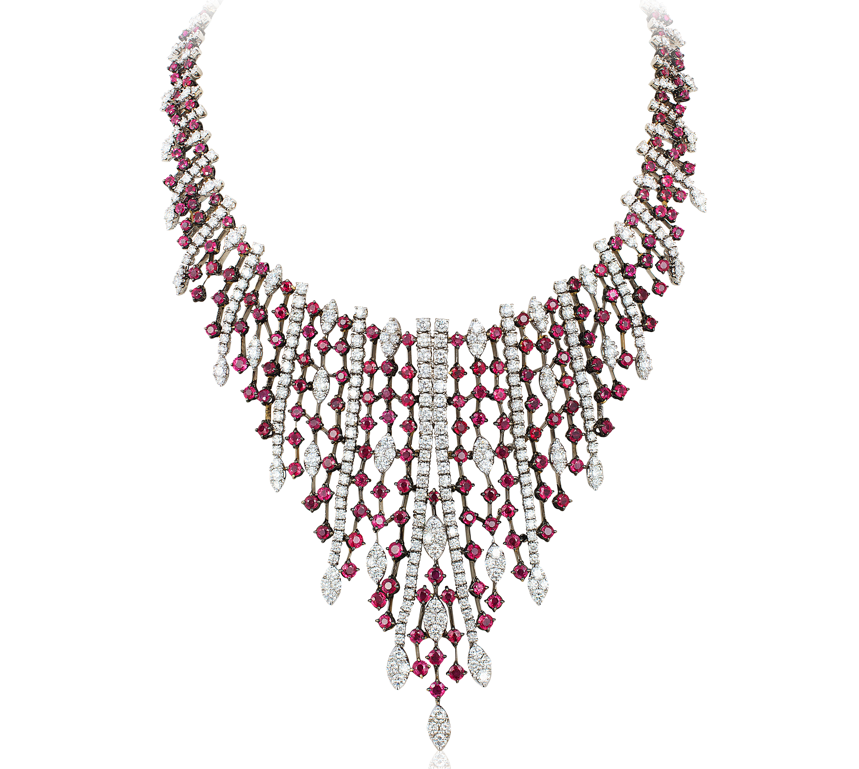 Andreoli ruby and diamond V necklace | JCK On Your Market