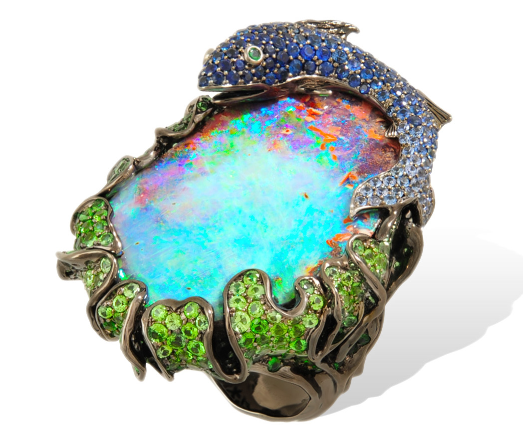 Lydia Courteille opal sea-inspired ring | JCK On Your Market
