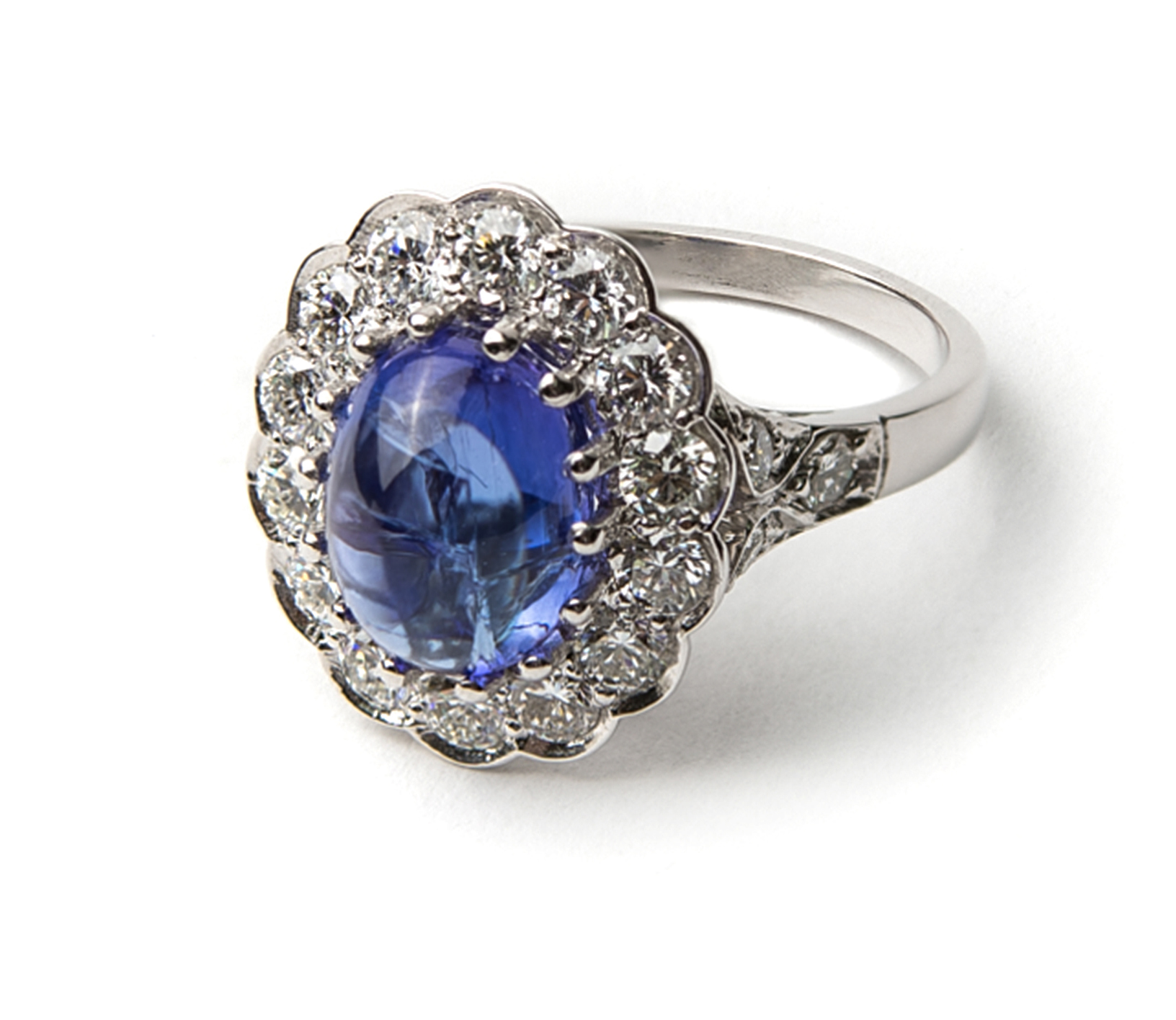 Lord Jewelry platinum tanzanite and diamond ring | JCK On Your Market