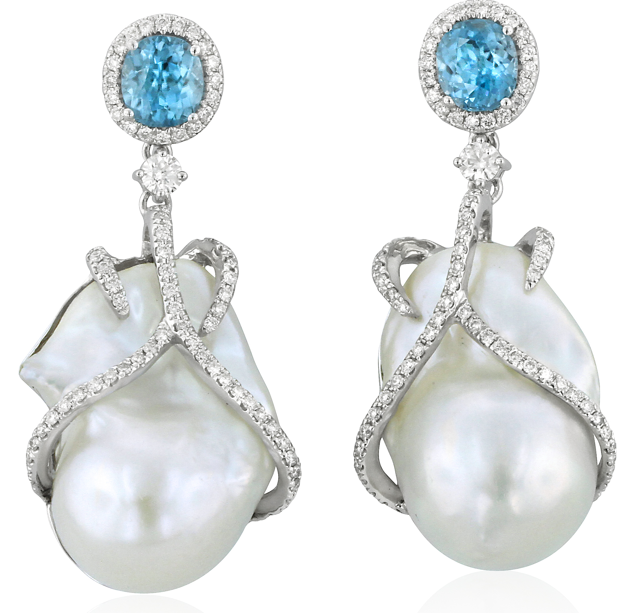 Yael Designs pearl and zircon drop earrings | JCK On Your Market