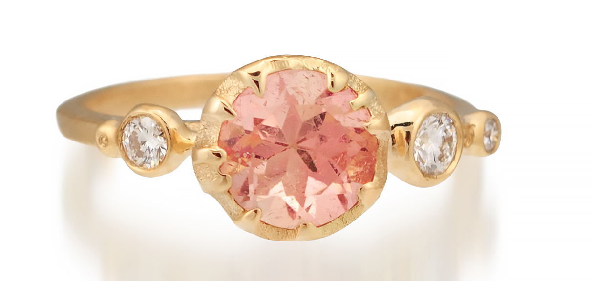 Audrius Krulis pink tourmaline and diamond ring | JCK On Your Market