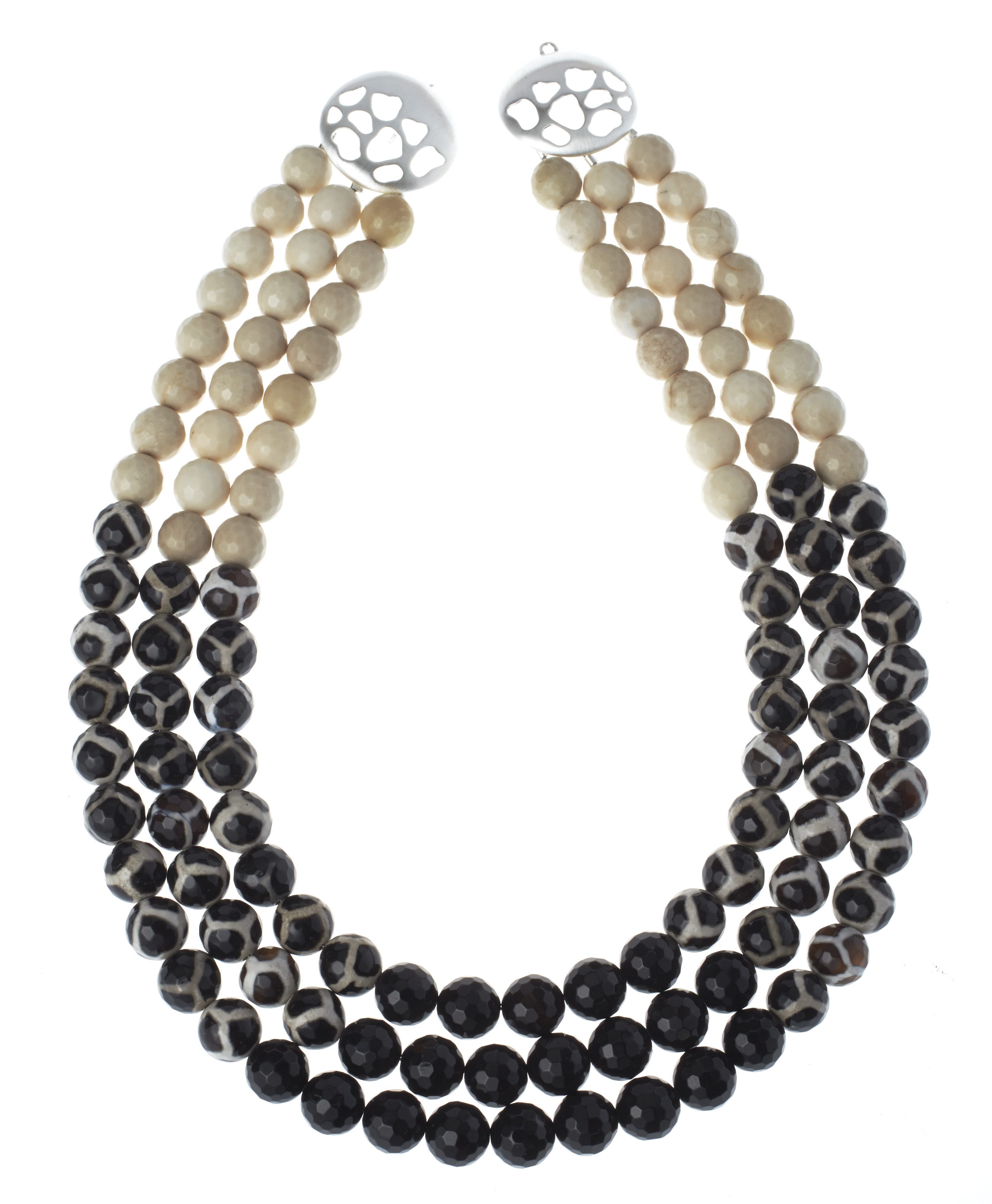 Rebecca Hook three-strand animal print necklace | JCK On Your Market
