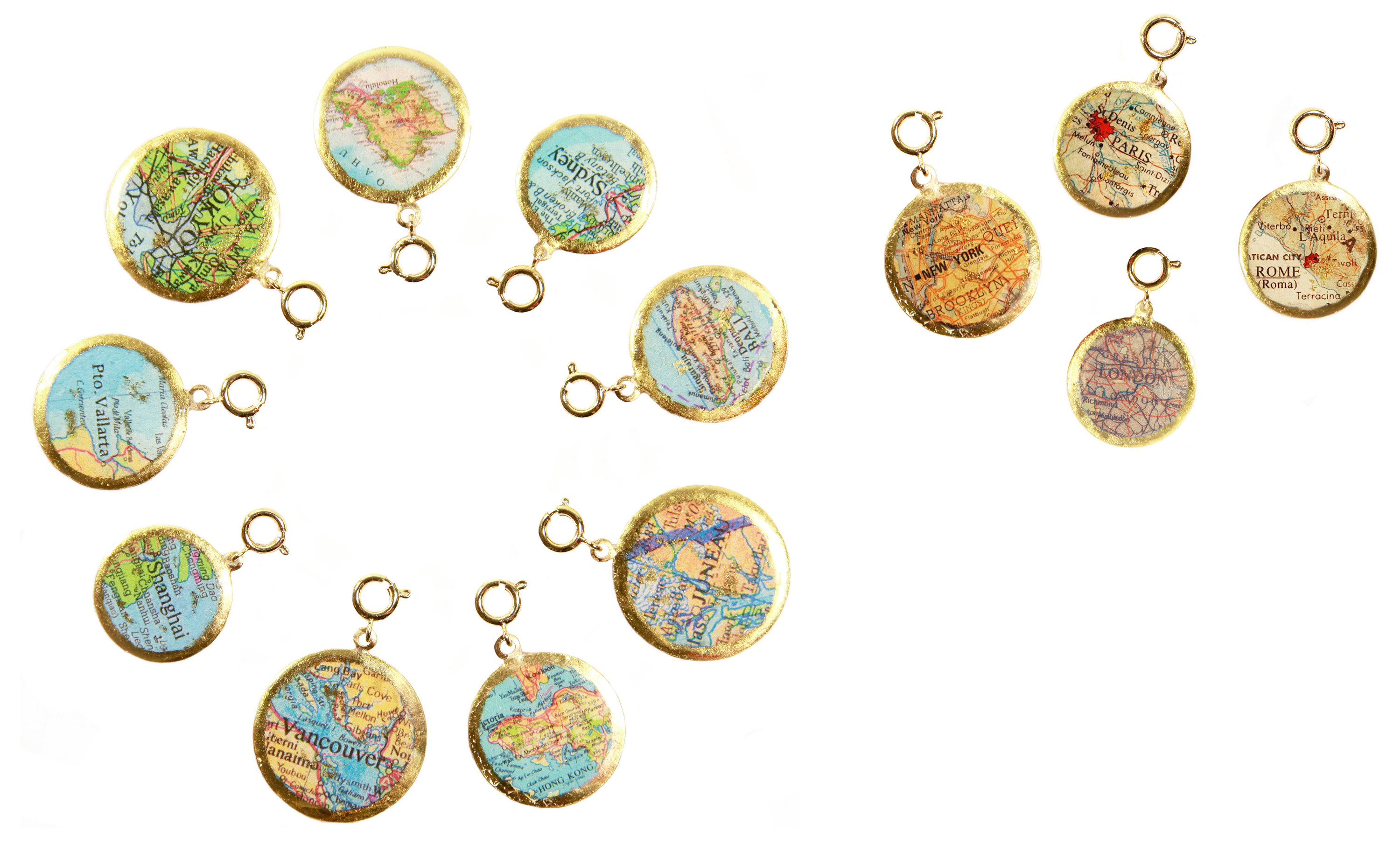 Evocateur map charms #BrittsPick | JCK On Your Market