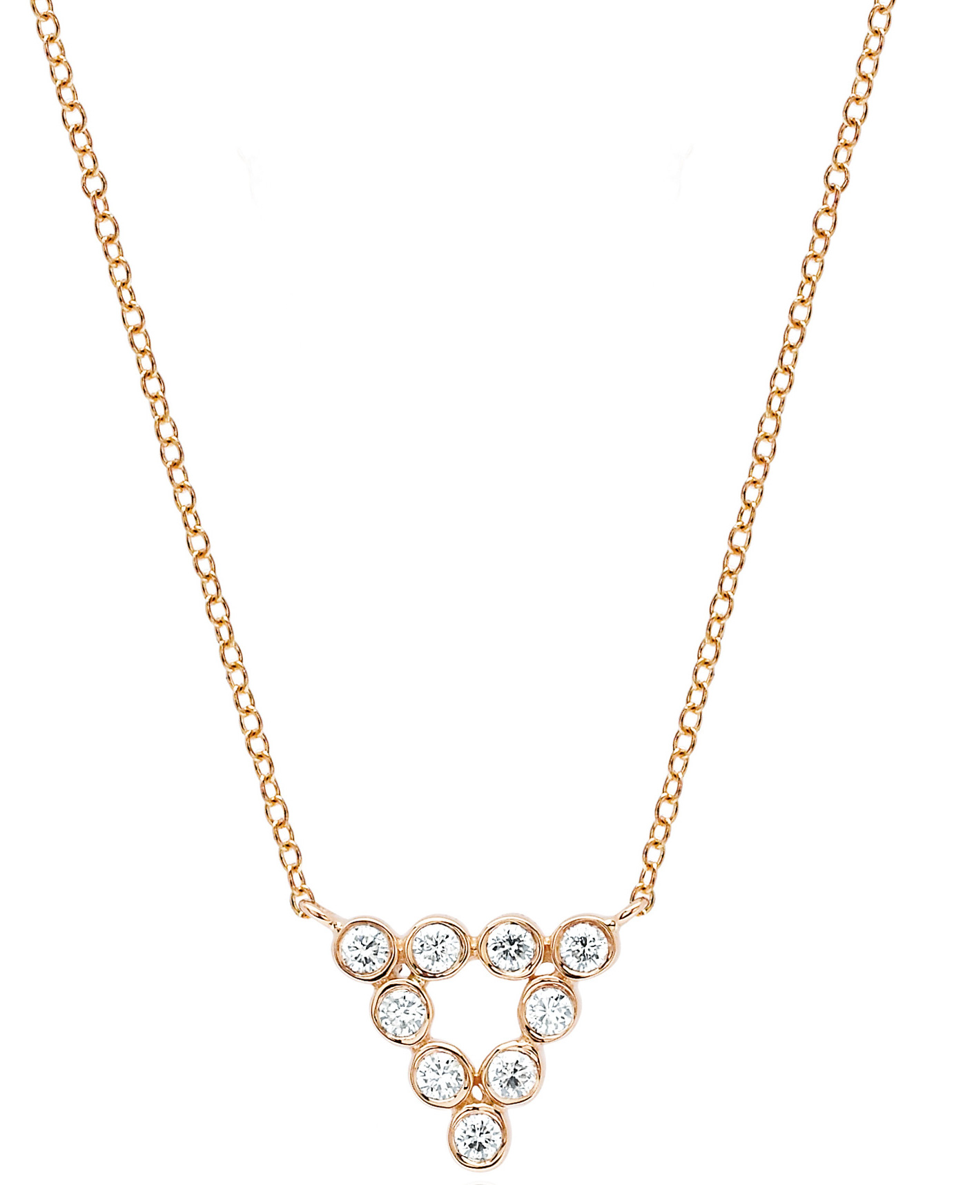 EF Collection bezel diamond triangle necklace | JCK On Your Market