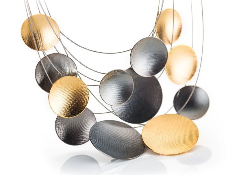 Amberbeata two-tone textured disc necklace | JCK On Your Market