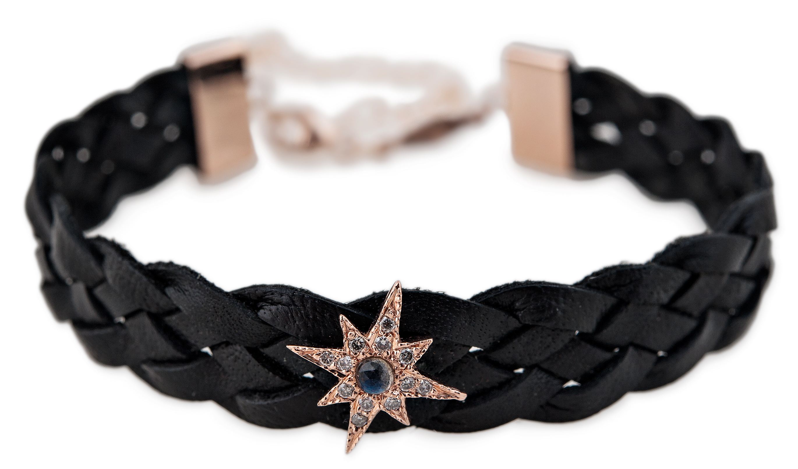 Jacquie Aiche starburst leather choker | JCK On Your Market