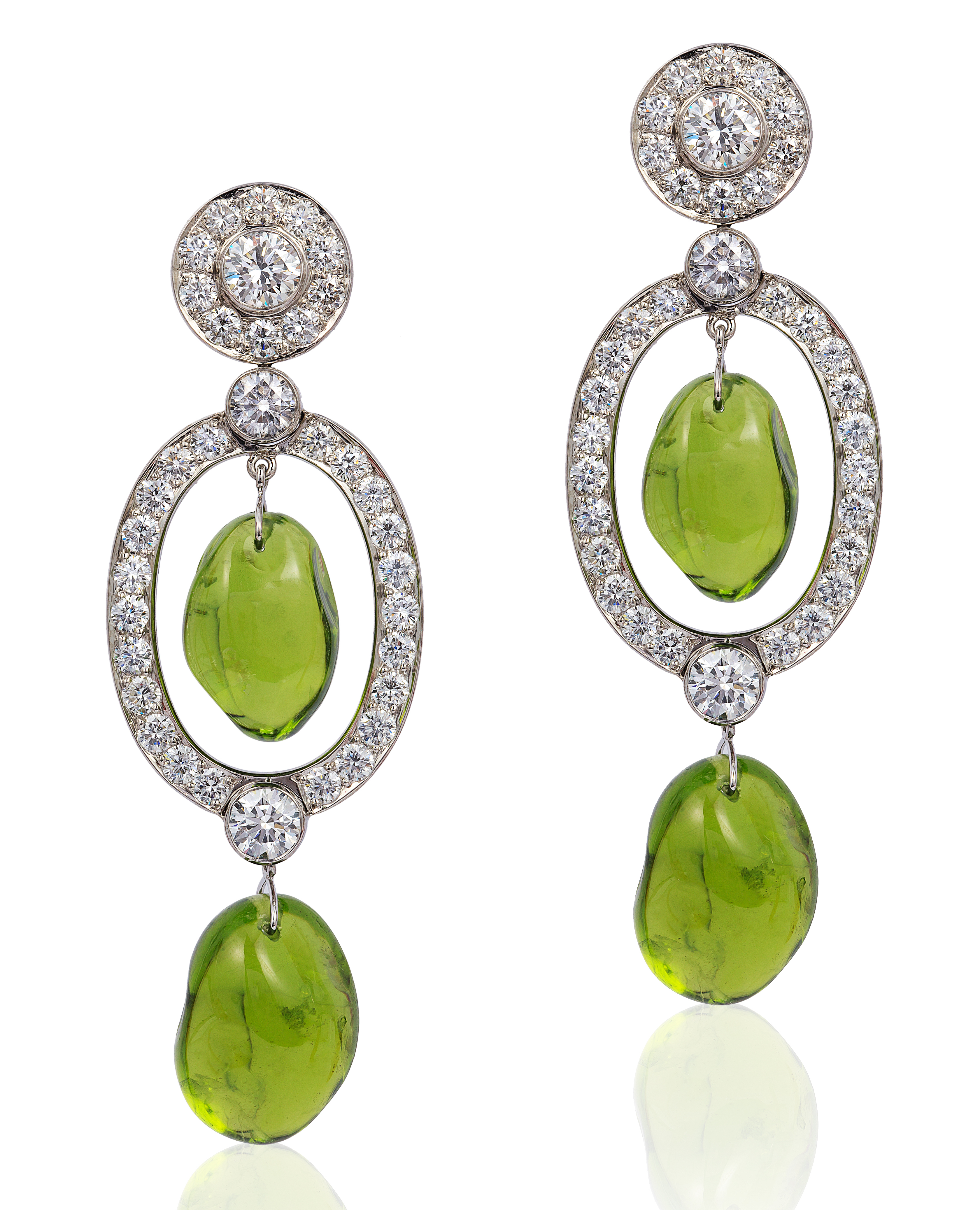 Goshwara G-One tumbled peridot earrings #BRITTSPICK | JCK On Your Market