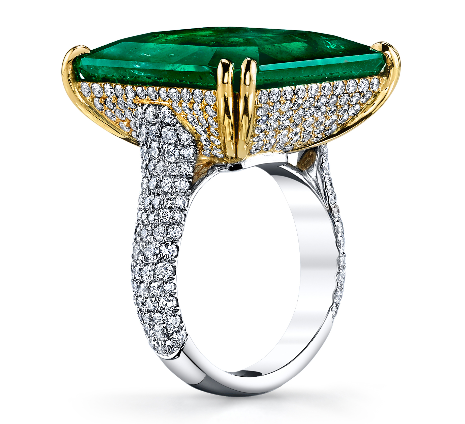 Joshua J emerald and diamond ring | JCK On Your Market
