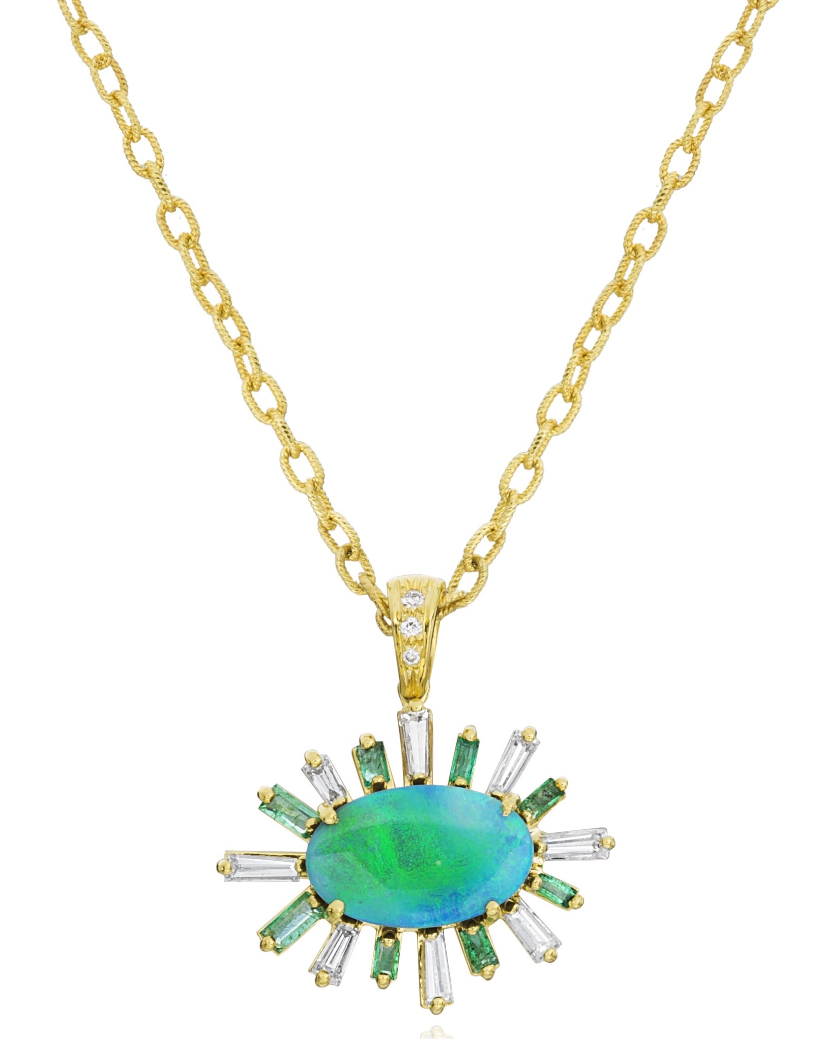 Lauren K Iris opal and emerald necklace | JCK On Your Market