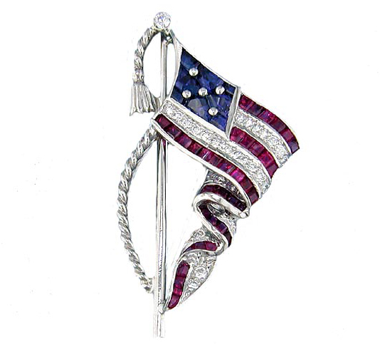 Oscar Heyman 'droopy flag' lapel pin | JCK On Your Market