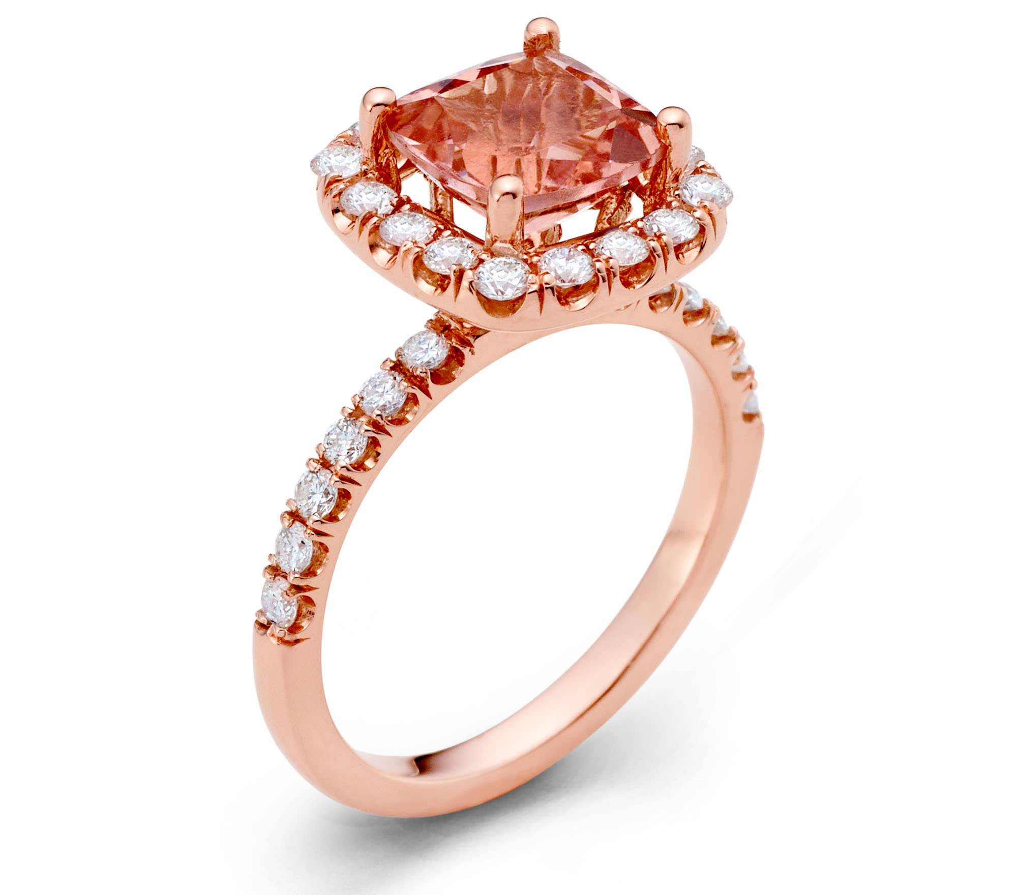 Majestic Art Design morganite and diamond ring | JCK On Your Market