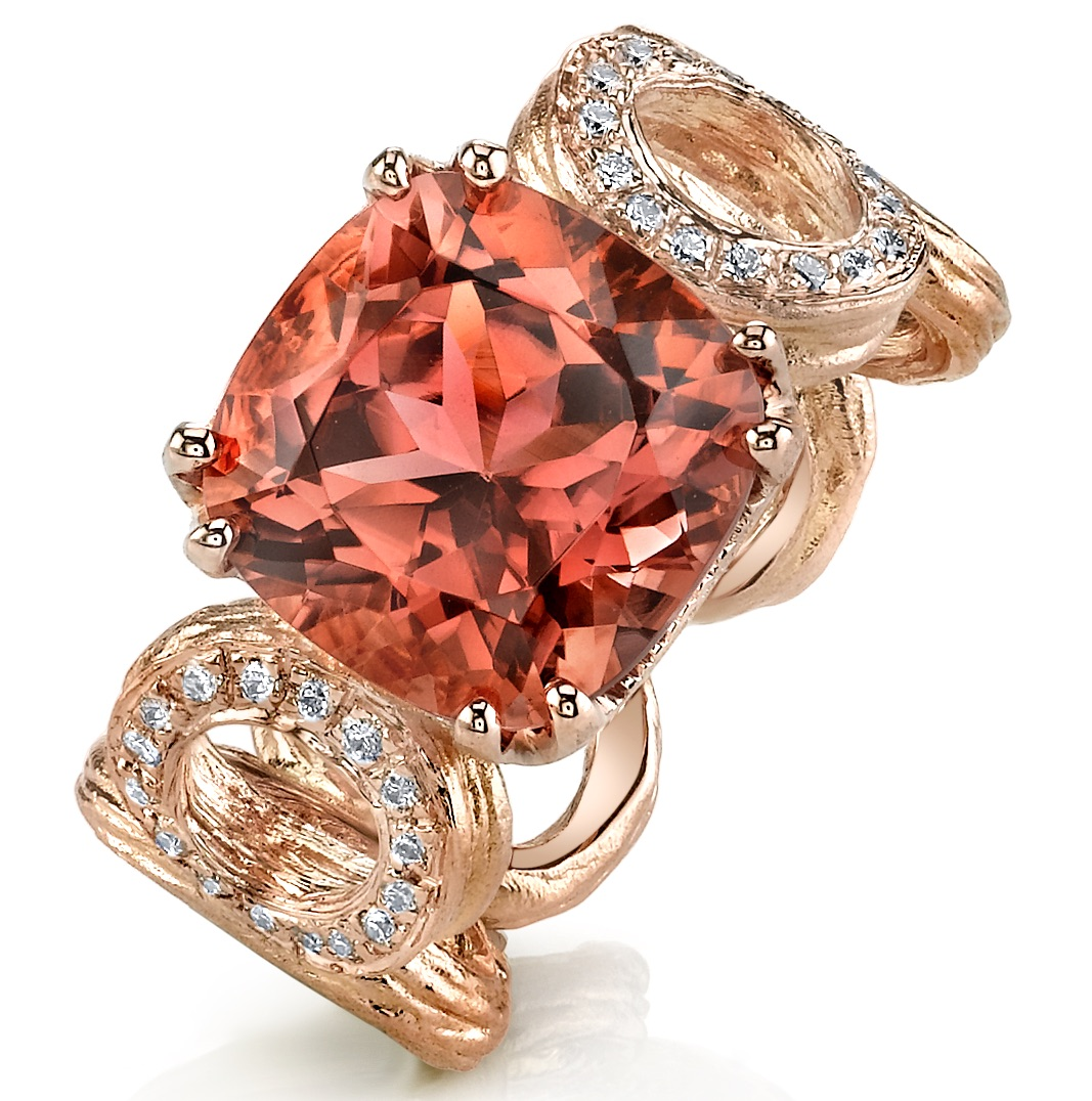 Aaron Henry Designs pink tourmaline ring | JCK On Your Market