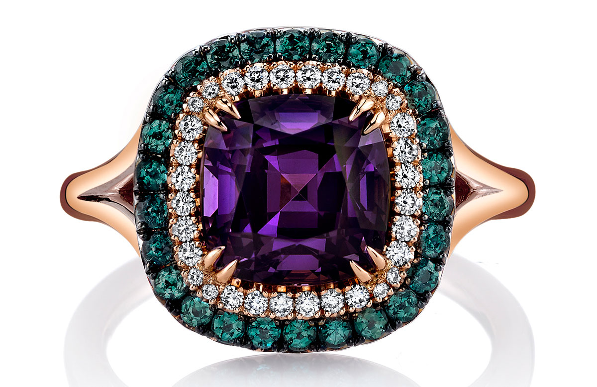 Omi Privé spinel and alexandrite ring | JCK On Your Market