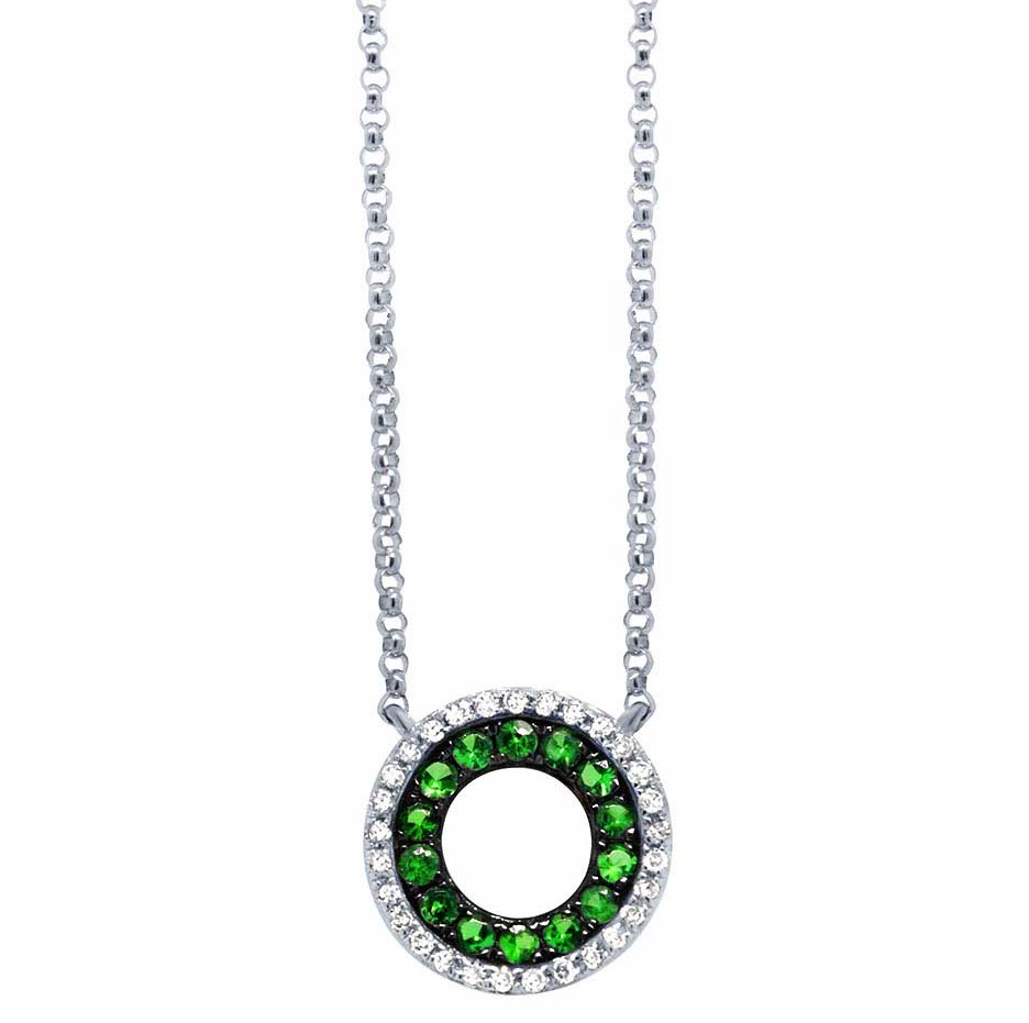Shy Creation tsavorite garnet circle pendant | JCK On Your Market