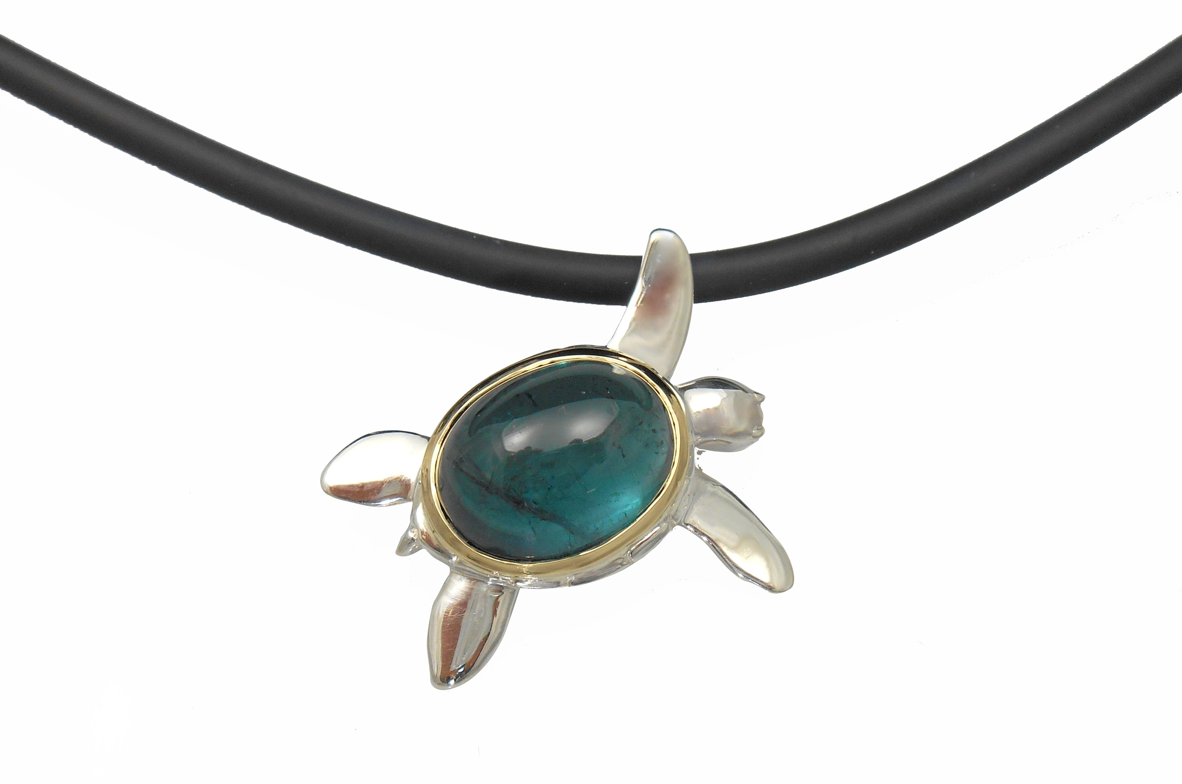 Alexis Barbeau blue tourmaline turtle necklace | JCK On Your Market