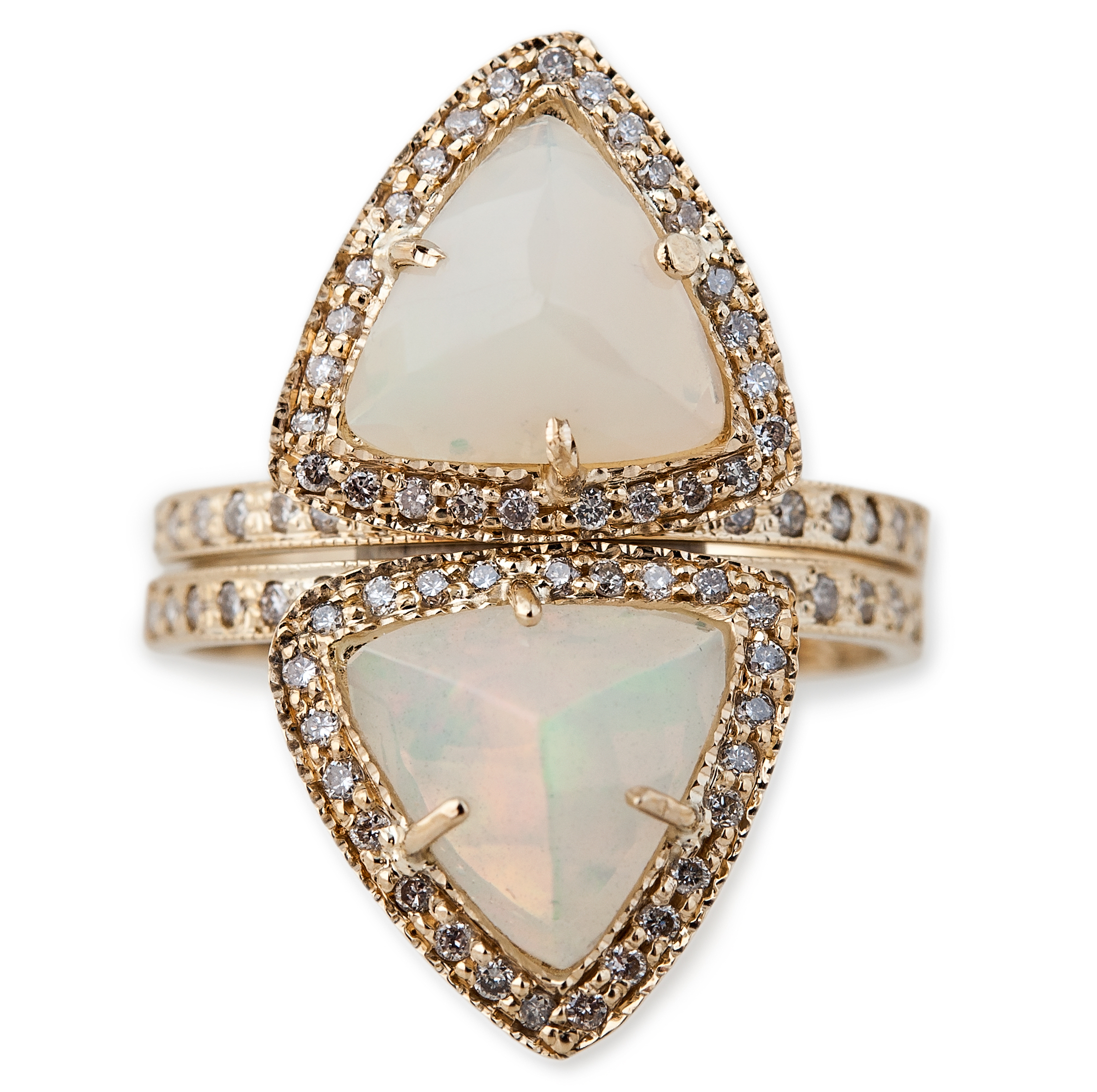 Jacquie Aiche opal pyramid stack rings | JCK On Your Market