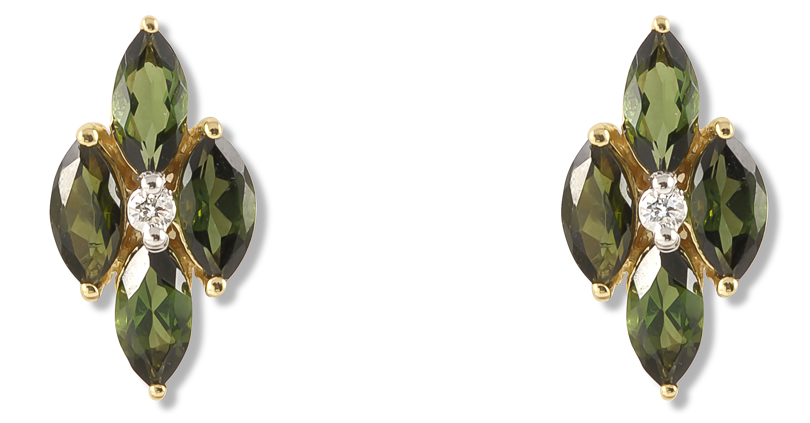 Ayva Jewelry green tourmaline Pavla earrings | JCK On Your Market