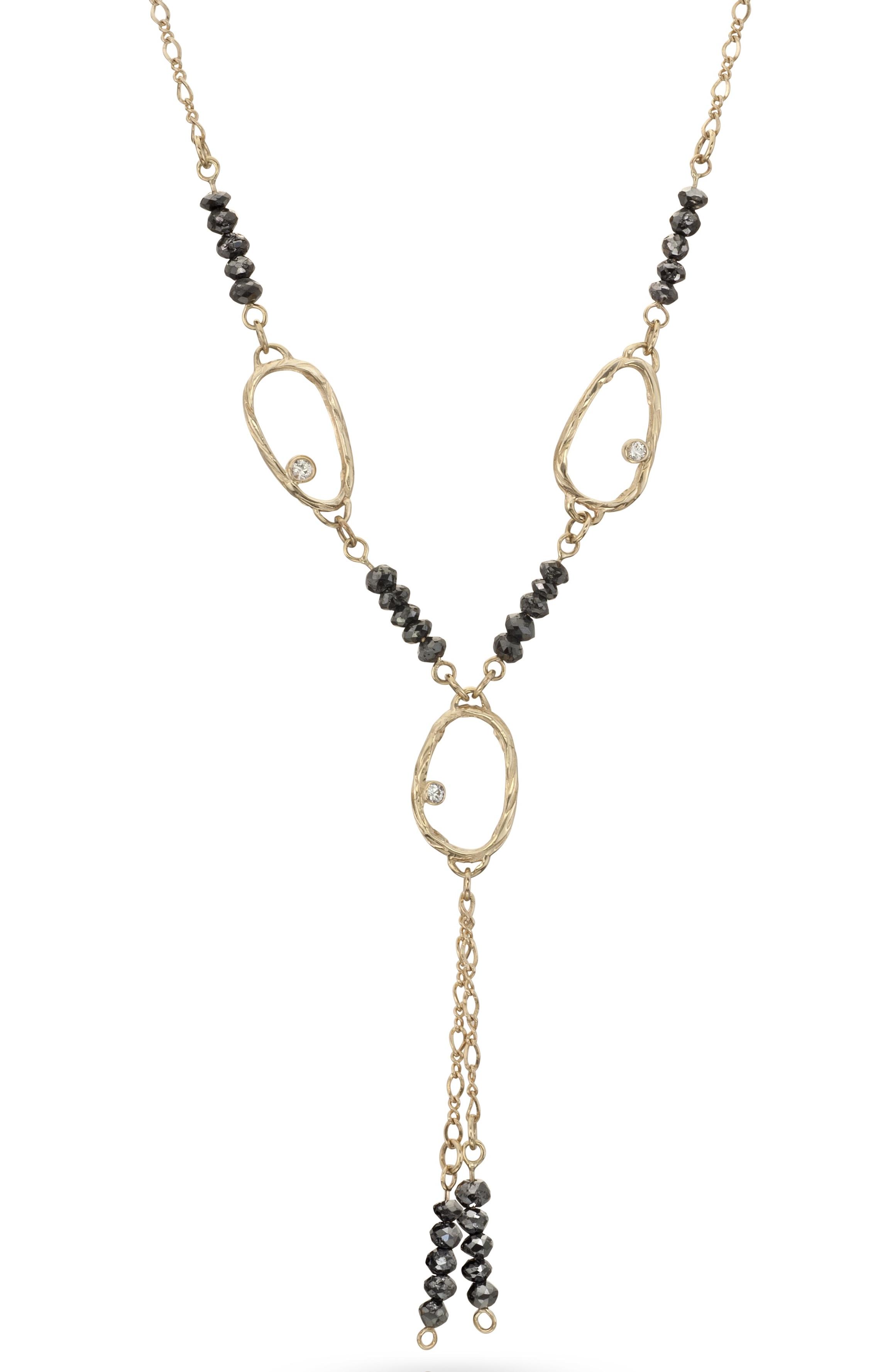 Alexis Barbeau black diamond Y necklace | JCK On Your Market