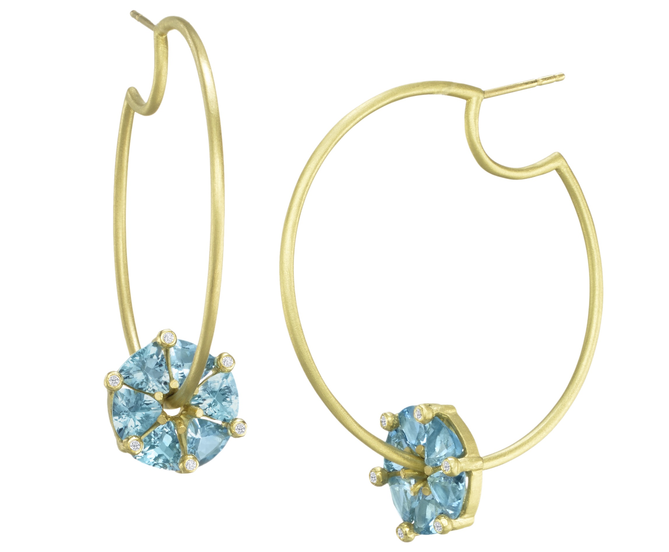 Suzy Landa spinning gemstone hoop earrings | JCK On Your Market