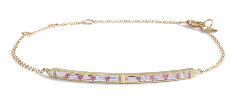 Erika Winters 10-stone pink sapphire bar bracelet | JCK On Your Market
