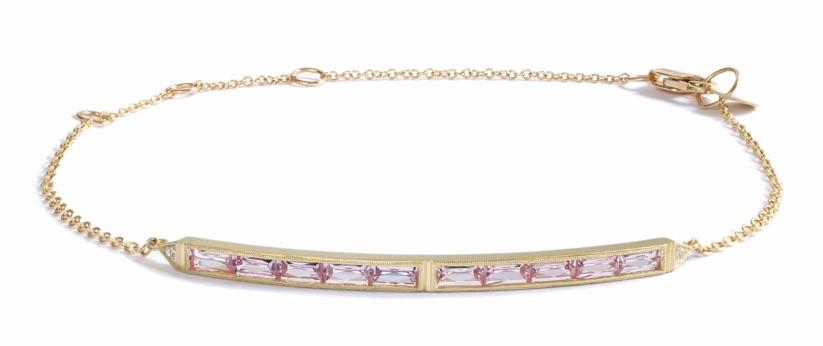 Erika Winters 10-stone pink sapphire bar bracelet | JCK On Your Market