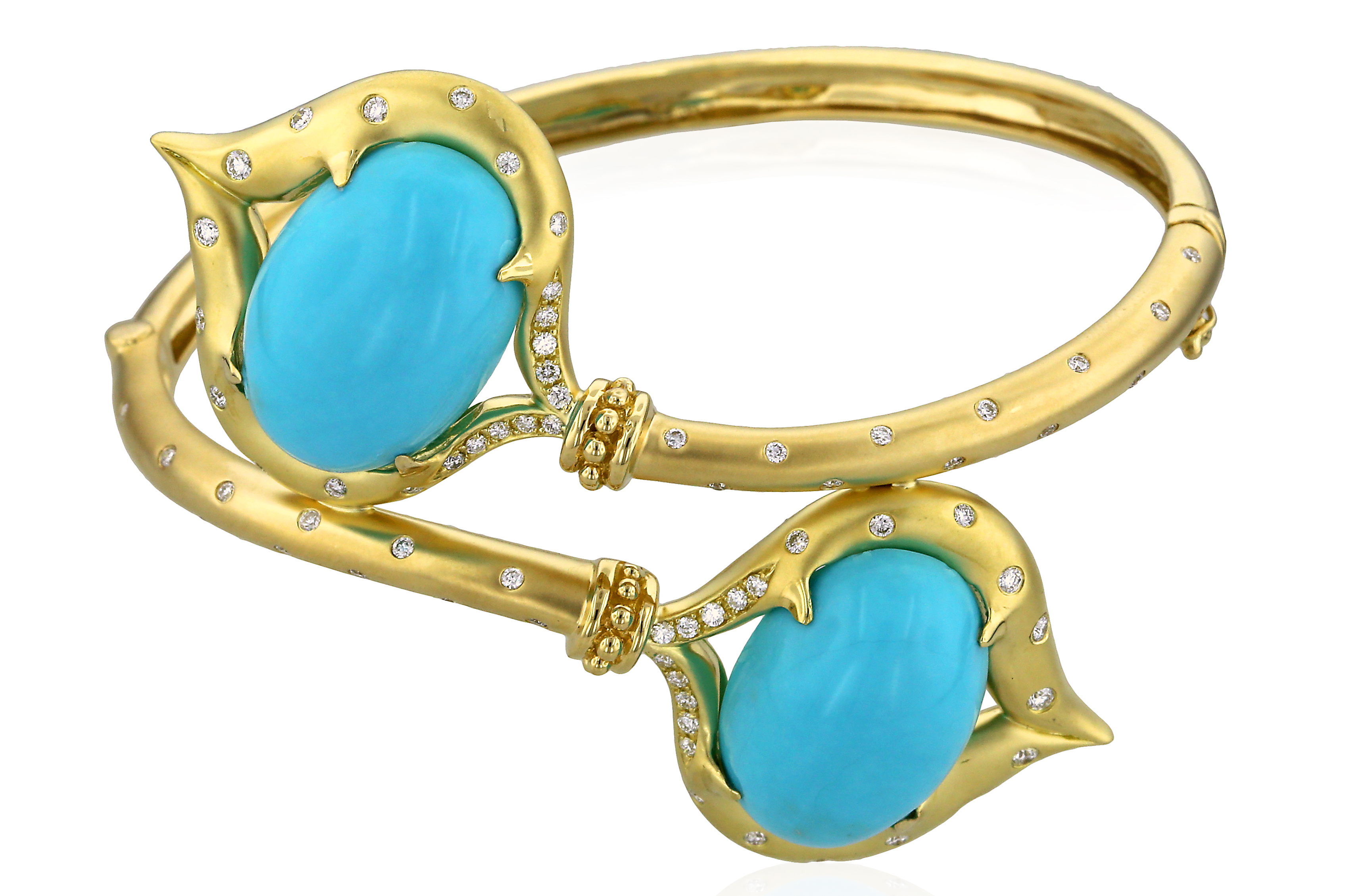 Yael Designs turquoise bypass bracelet | JCK On Your Market