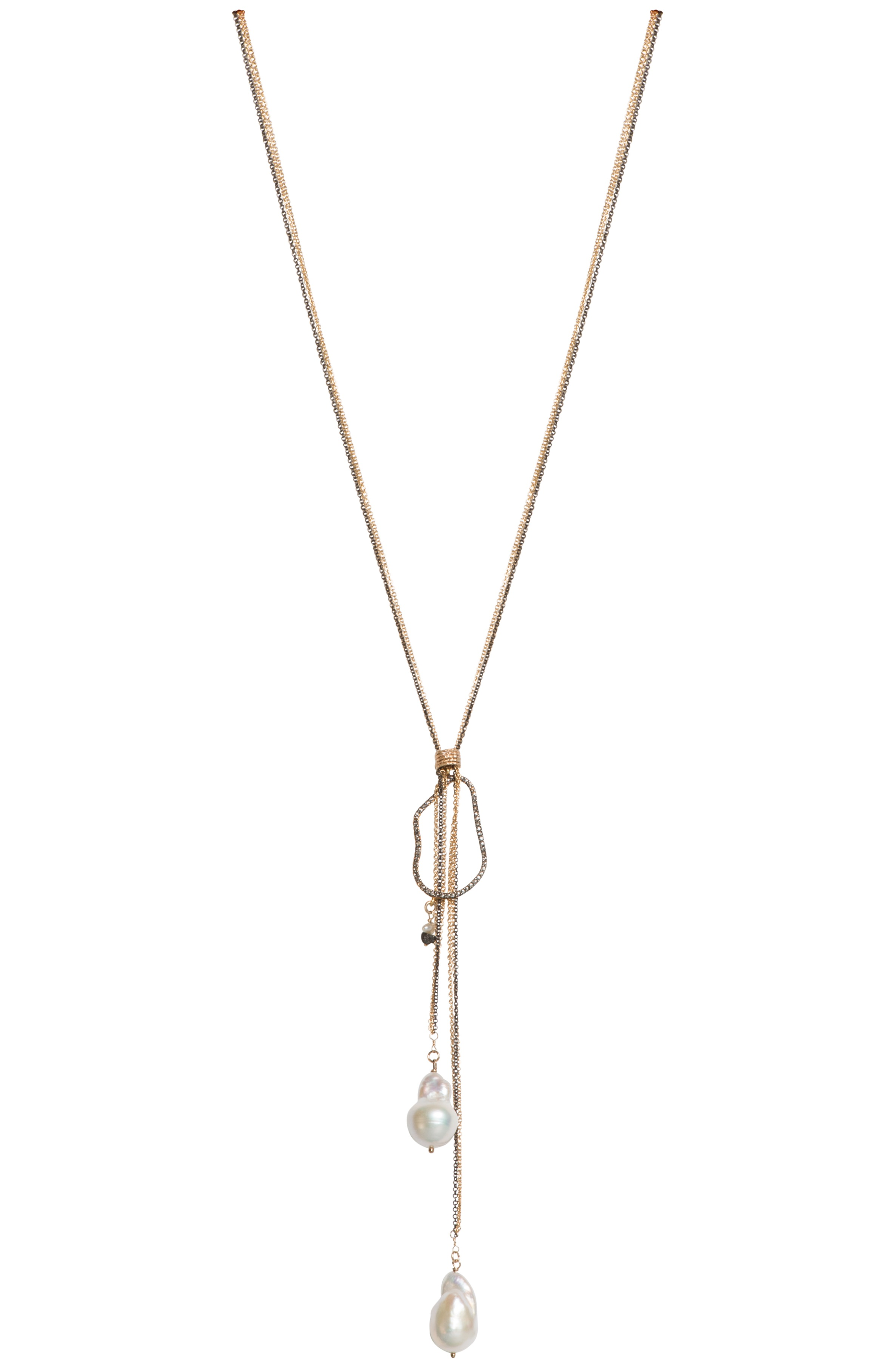 Tracy Arrington champagne diamond and pearl necklace | JCK On Your Market