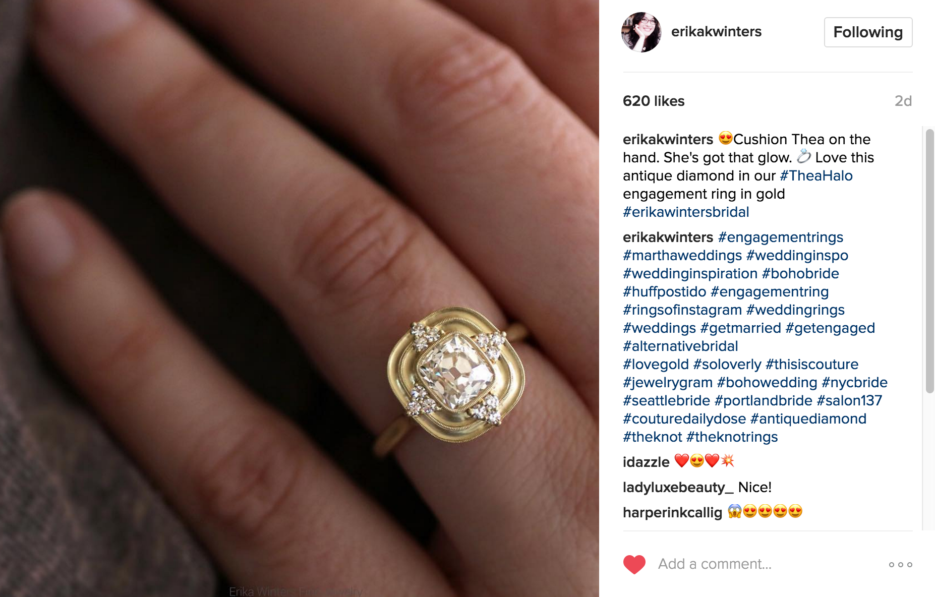 Erika Winters Instagram | JCK Social Setting