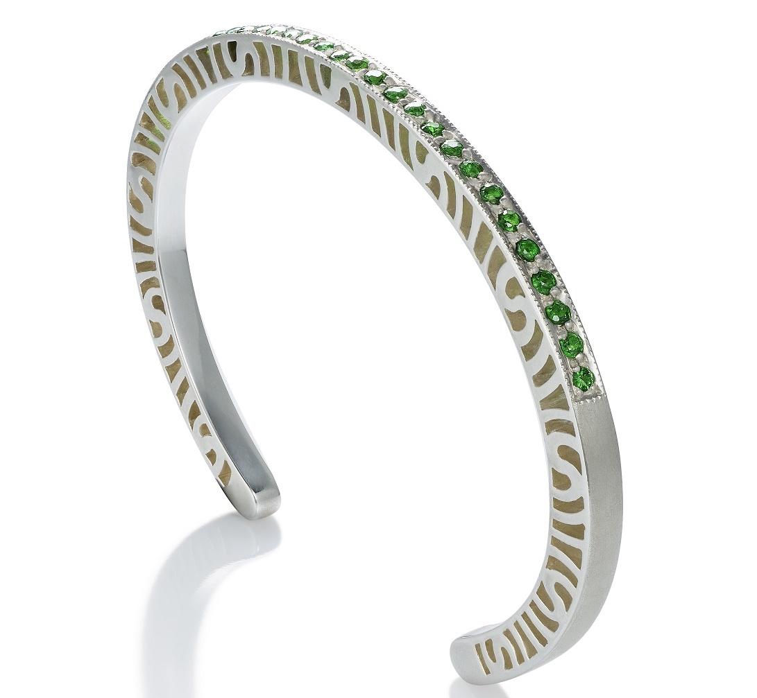 Martha Seely Shooting Stars tsavorite cuff bracelet | JCK On Your Market