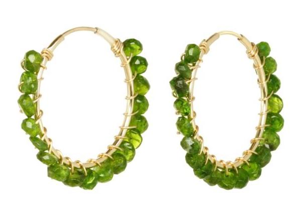 Catherine Weitzman peridot bead hoop earrings | JCK On Your Market