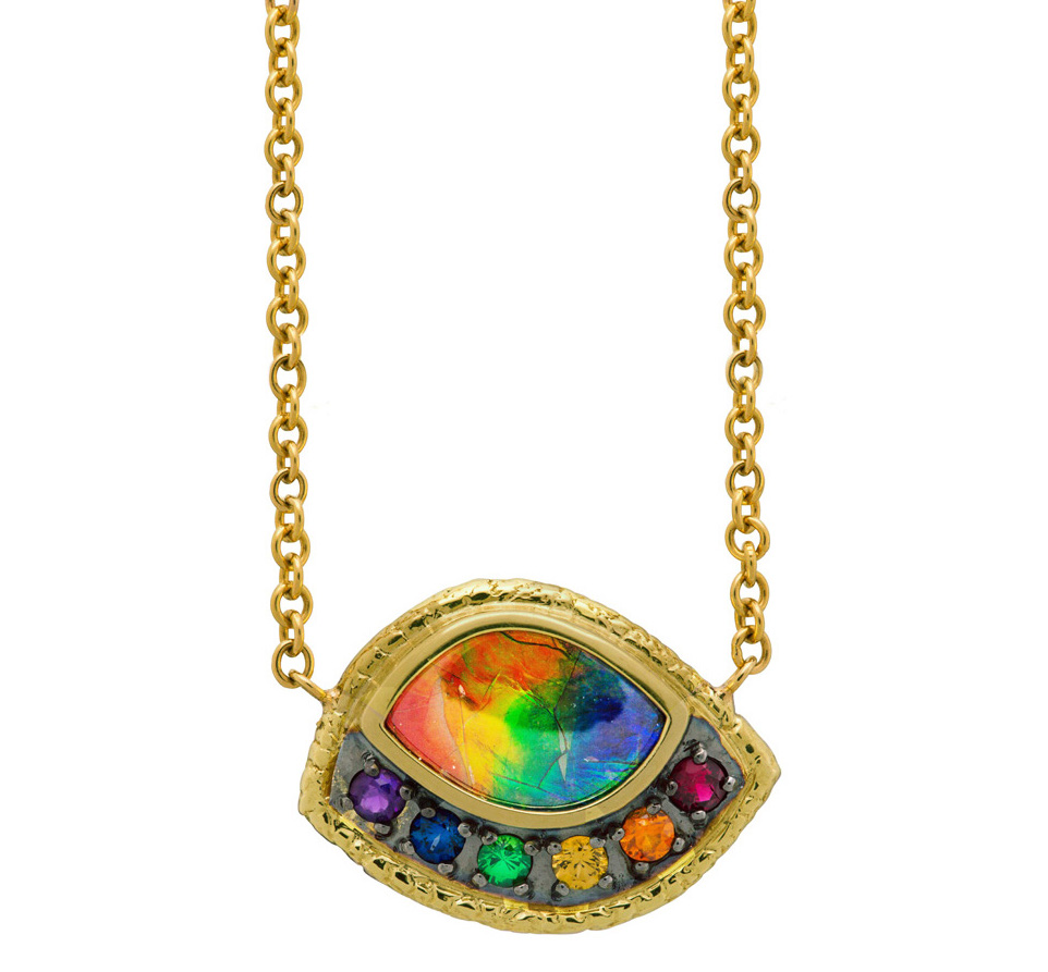 Susan Wheeler rainbow ammolite necklace | JCK On Your Market