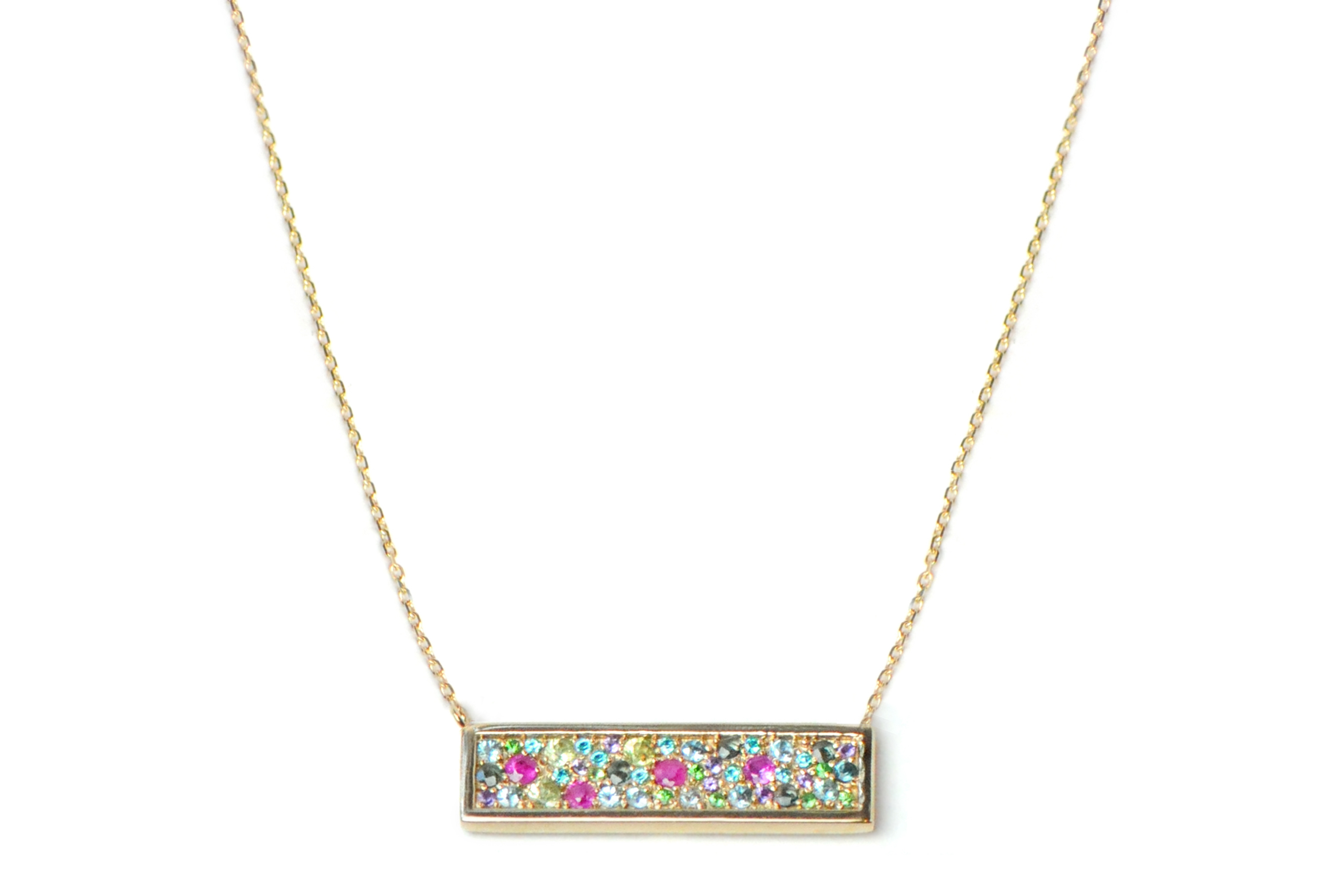 Anzie Jewelry rainbow bar necklace | JCK On Your Market