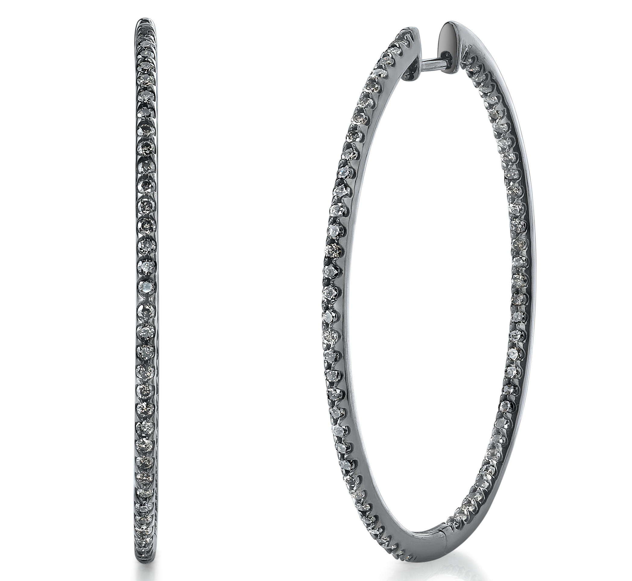 Borgioni oval hoop earrings | JCK On Your Market