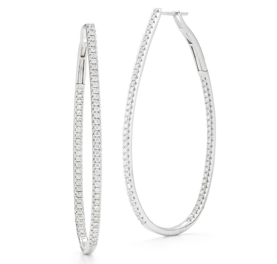 Beny Sofer oval hoop earrings | JCK On Your Market