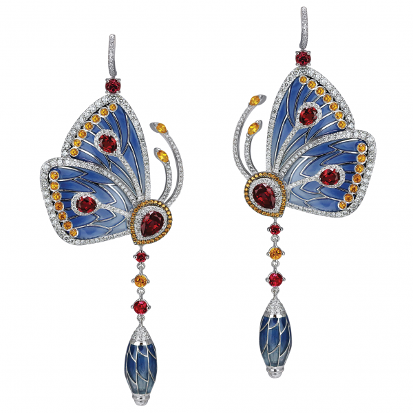 Jacob Arabo Founder And Chairman Of Co Wanted To Harness The Ethereal Beauty Erflies With These Stunning Earrings