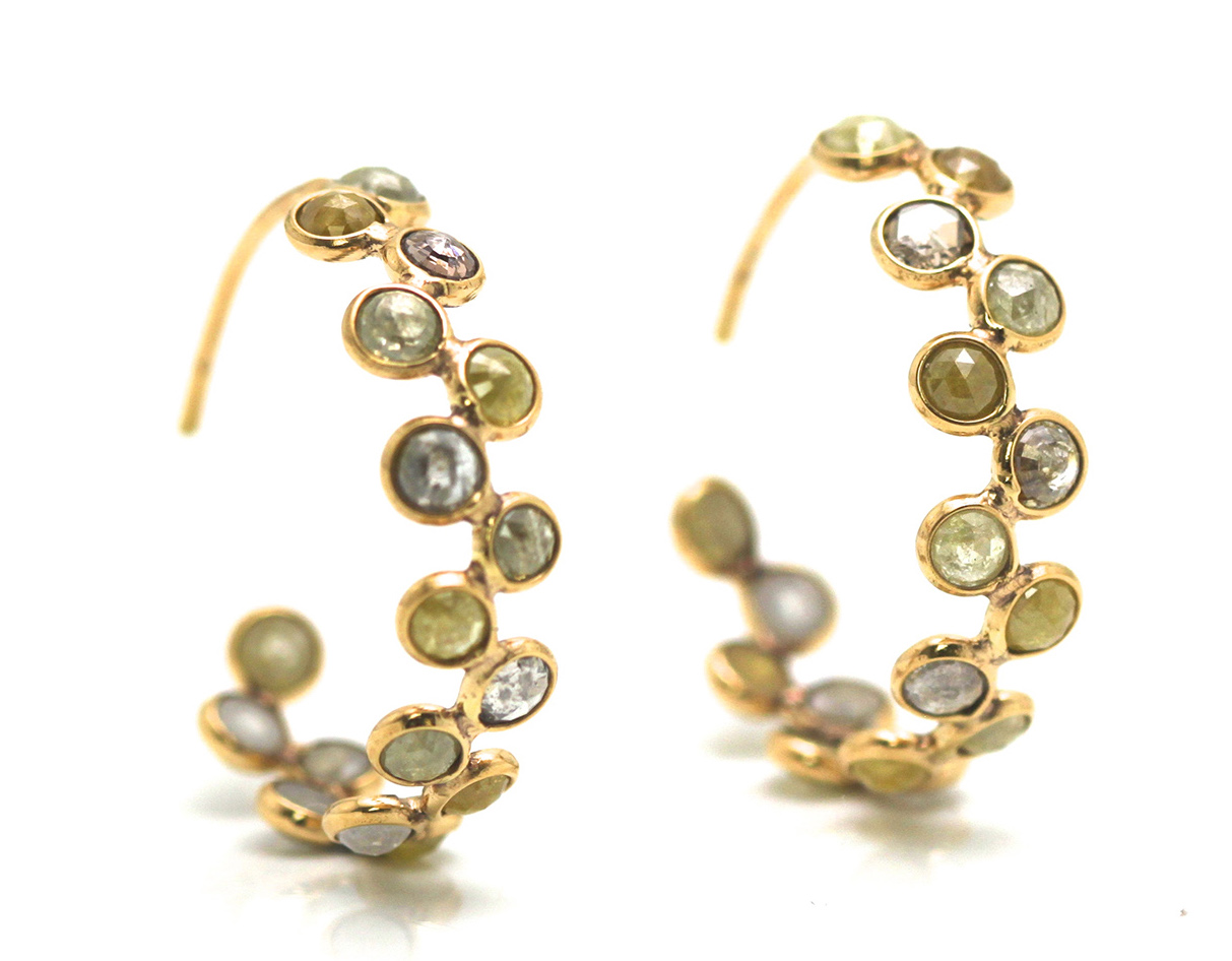 Tresor natural diamond hoop earrings | JCK On Your Market