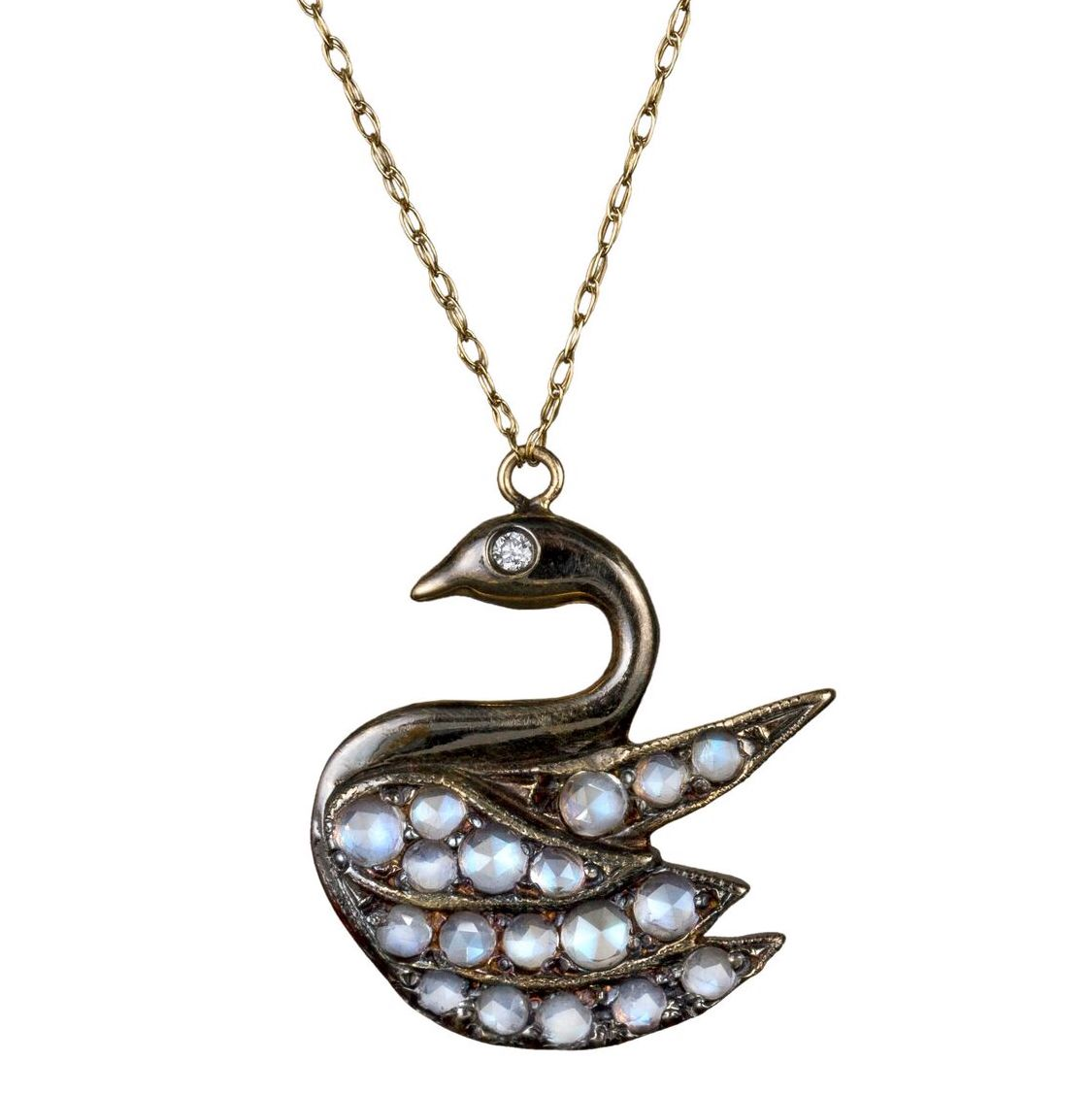 Blackbird and the Snow swan pendant | JCK On Your Market