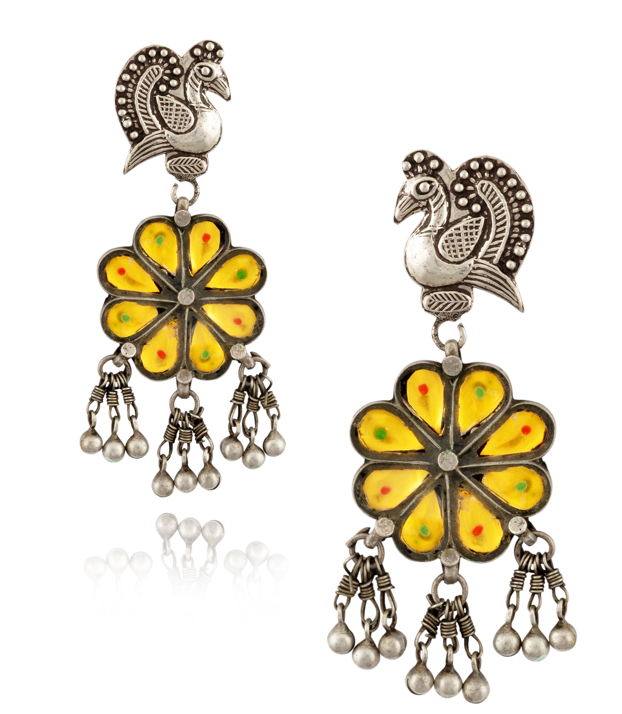 Amrapali peacock and flower earrings | JCK On Your Market