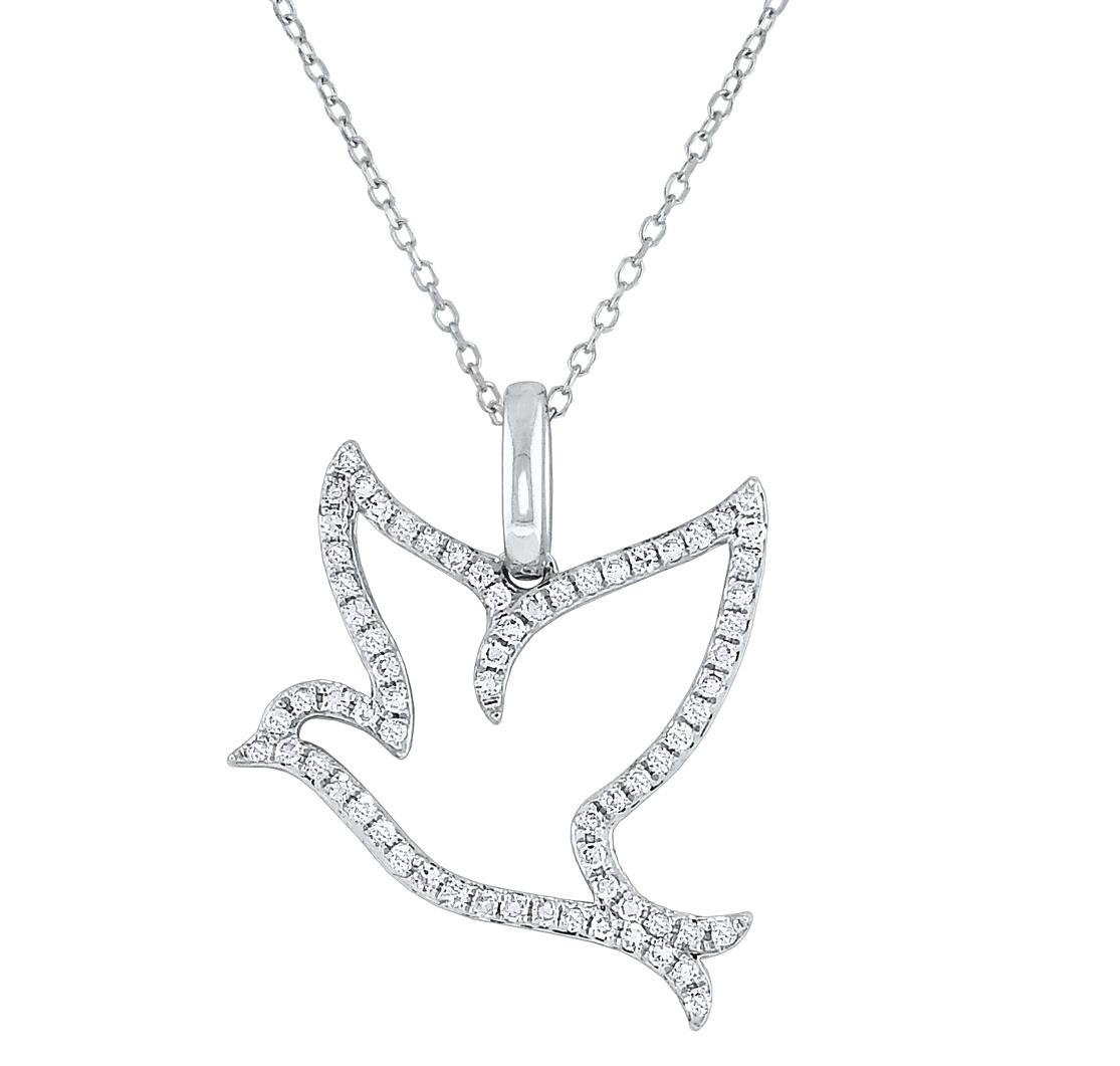 KC Designs diamond dove pendant | JCK On Your Market
