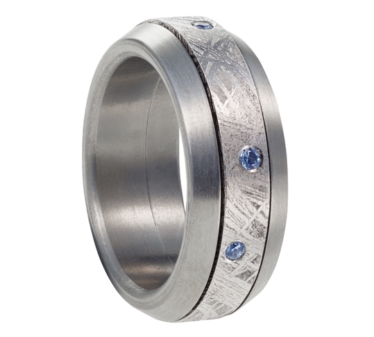 Coeur de Planete sapphire and meteorite band | JCK On Your Market
