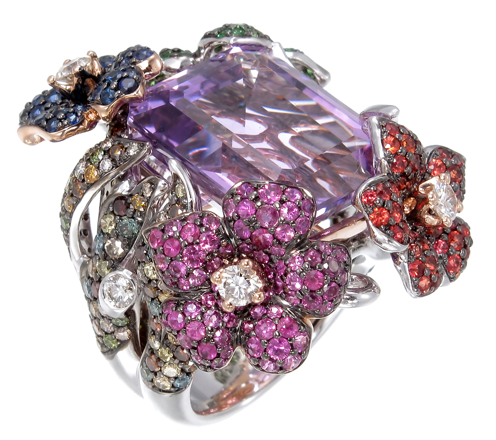 Zorab Atelier amethyst flower ring | JCK On Your Market