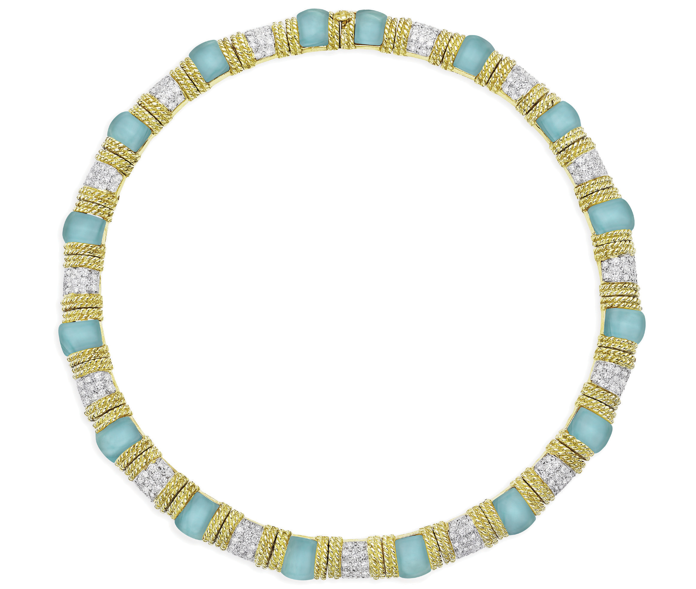 Cassis aqua collar necklace | JCK On Your Market