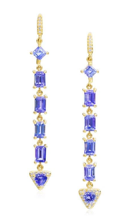 Lauren K mixed tanzanite line earrings | JCK On Your Market