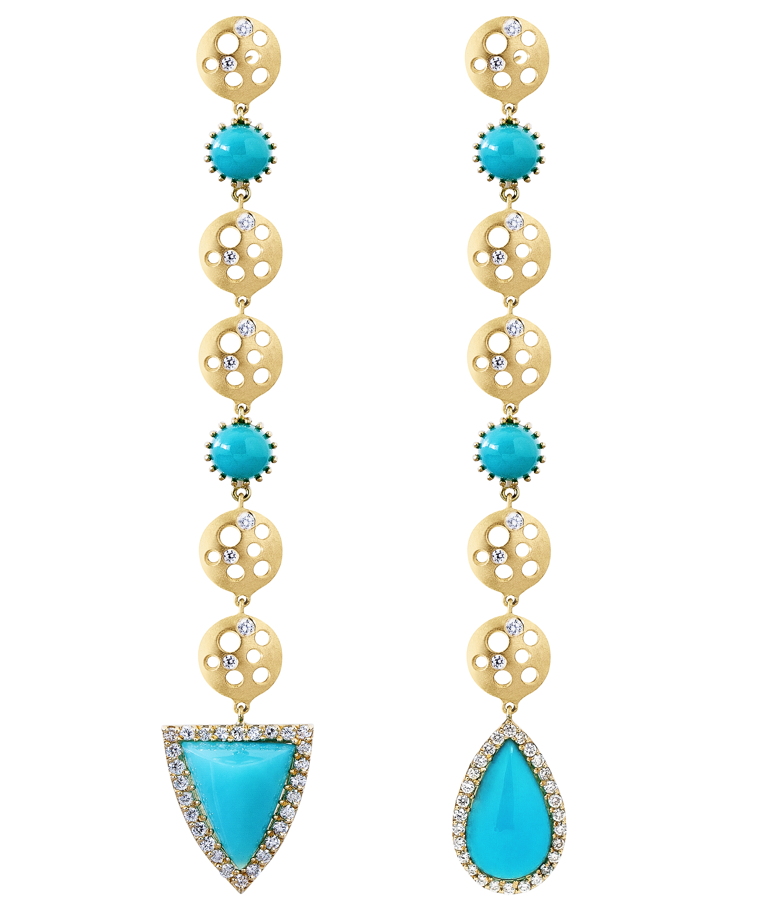 Dana Bronfman mismatched chrysocolla earrings | JCK On Your Market
