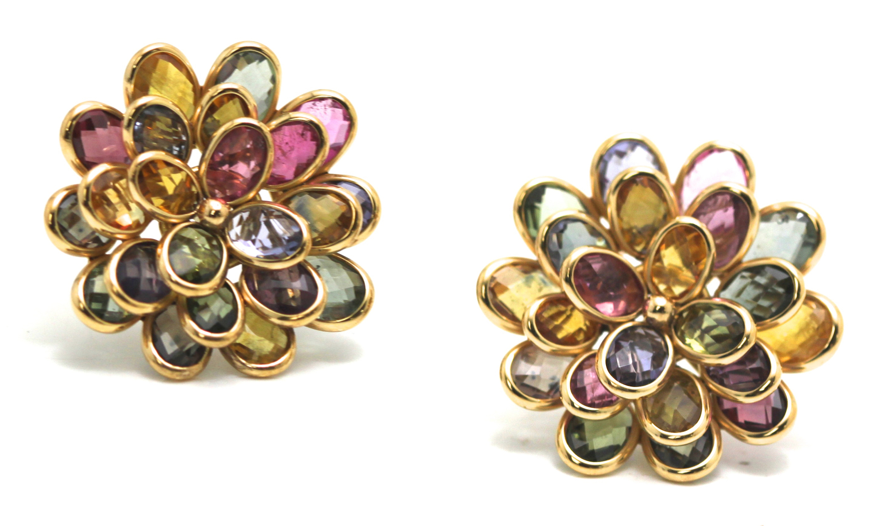 Tresor multicolor flower earrings | JCK On Your Market
