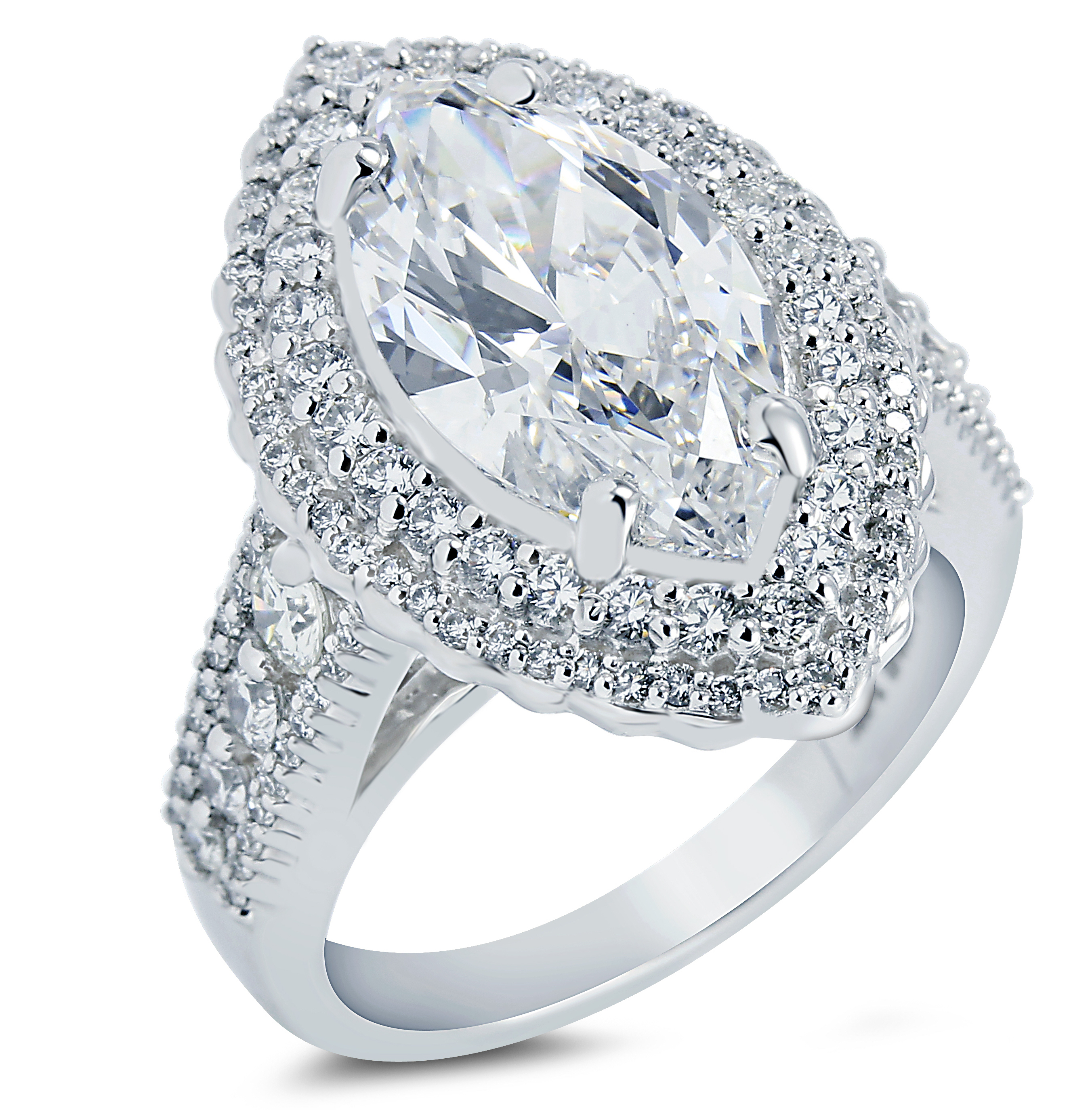 Malakan marquise diamond engagement ring | JCK On Your Market