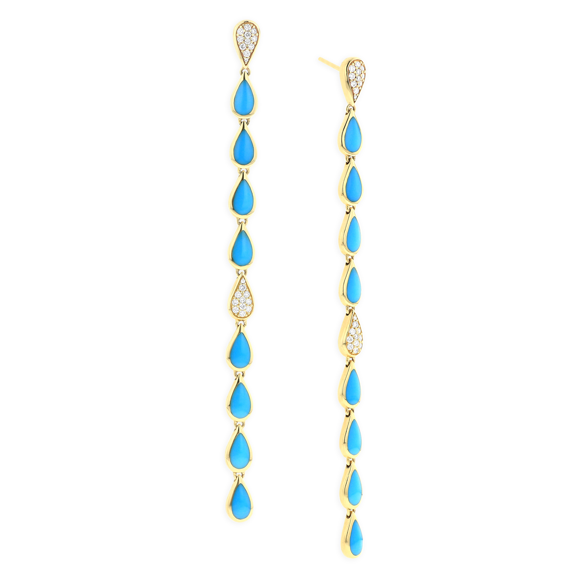 Kabana Sleeping Beauty turquoise drop earrings | JCK On Your Market
