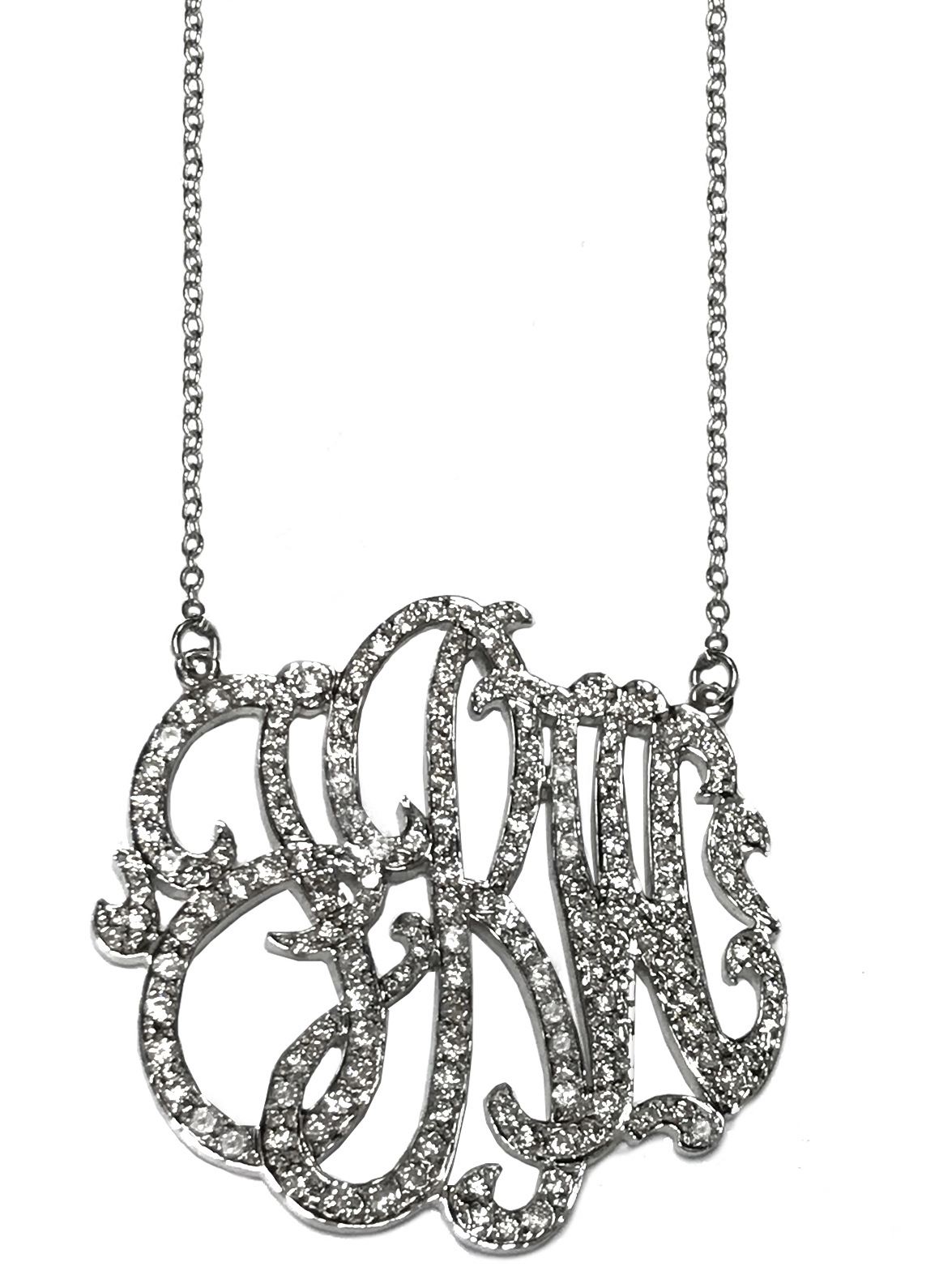 Jane Basch diamond monogram necklace | JCK On Your Market