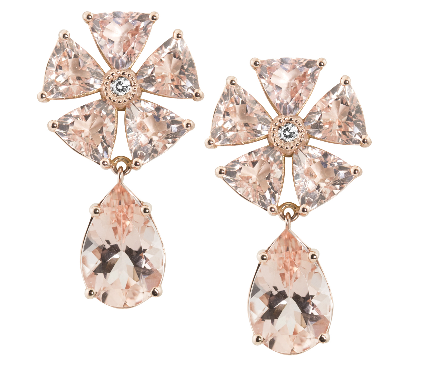 Julez Bryant morganite earrings | JCK On Your Market